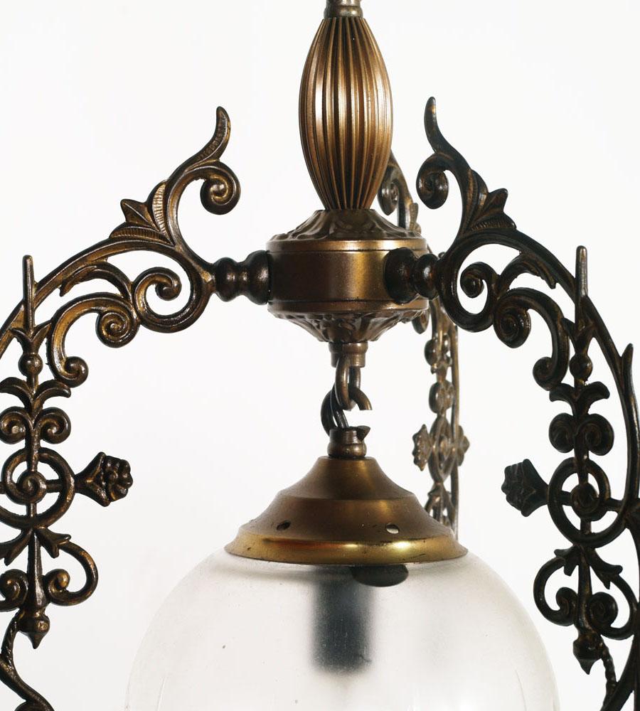 lampadari ottone : ... : Details about lampadario piccola sfera vintage liberty ottone anni