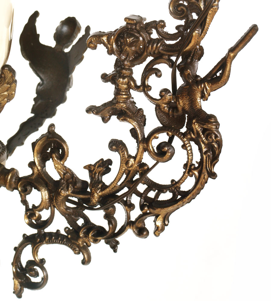 ebay lampadari antichi : Dettagli su LAMPADARIO VINTAGE LIBERTY ANNI 50 OTTONE ANGELI E ...