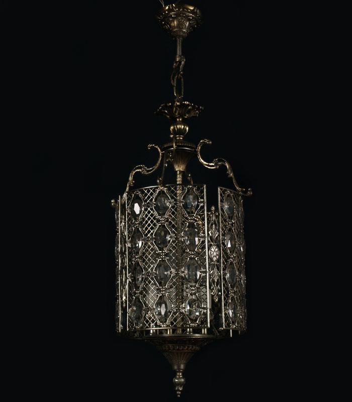 LAMPADARIO VINTAGE IN OTTONE ARGENTATO GOCCE IN VETRO 4 LUCI LIBERTY - LA 99  eBay