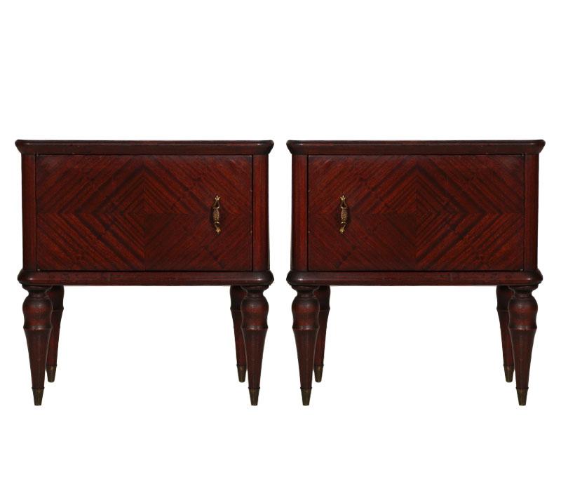 coppia comodini direttorio impero mogano art dec ma 56 ebay. Black Bedroom Furniture Sets. Home Design Ideas