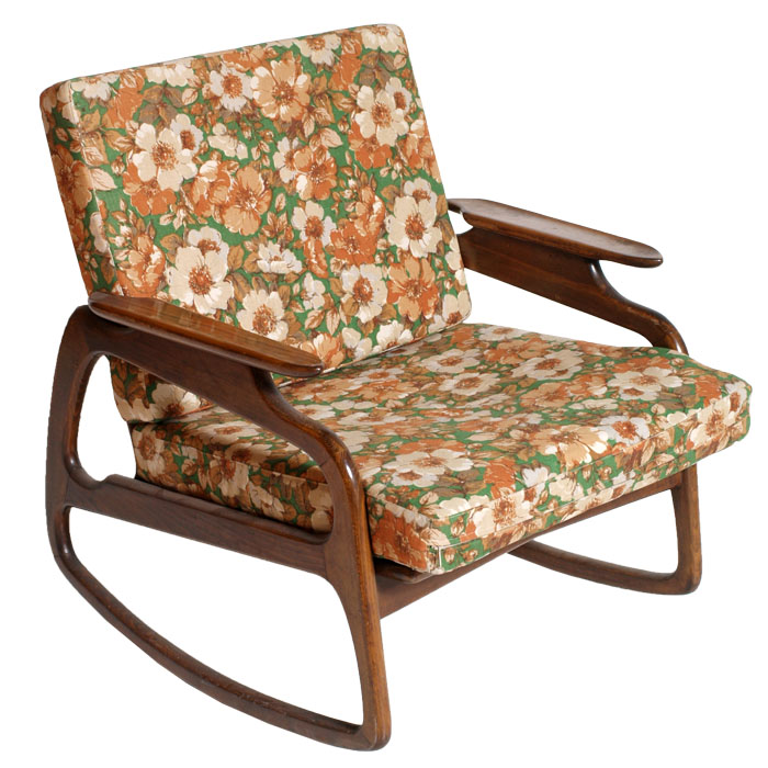 Poltrona sedia a dondolo rocking chair art dec design - Poltrona a dondolo di design ...