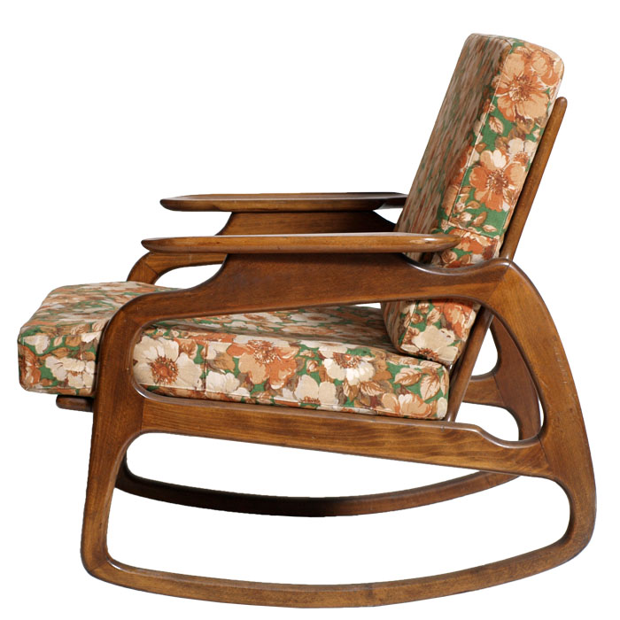 poltrona sedia a dondolo rocking chair art dec design