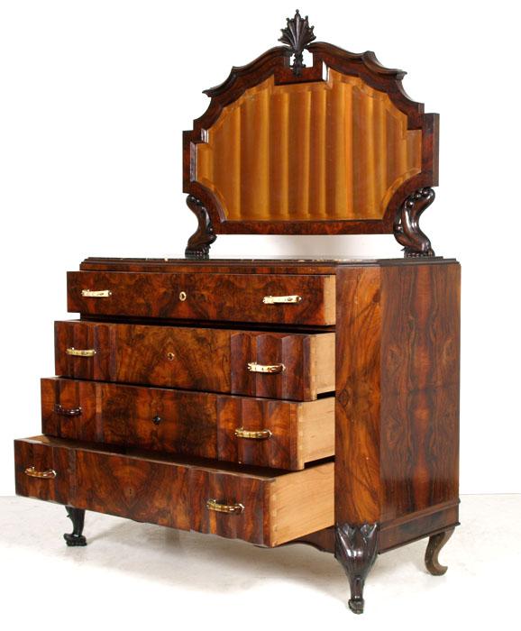 Antico como 39 cassettone radica piano marmo art nouveau - Art nouveau mobili ...