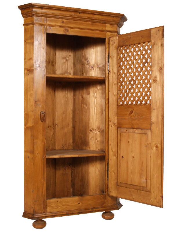 Country corner cabinet antica angoliera 800 arte povera for Armadio dispensa cucina