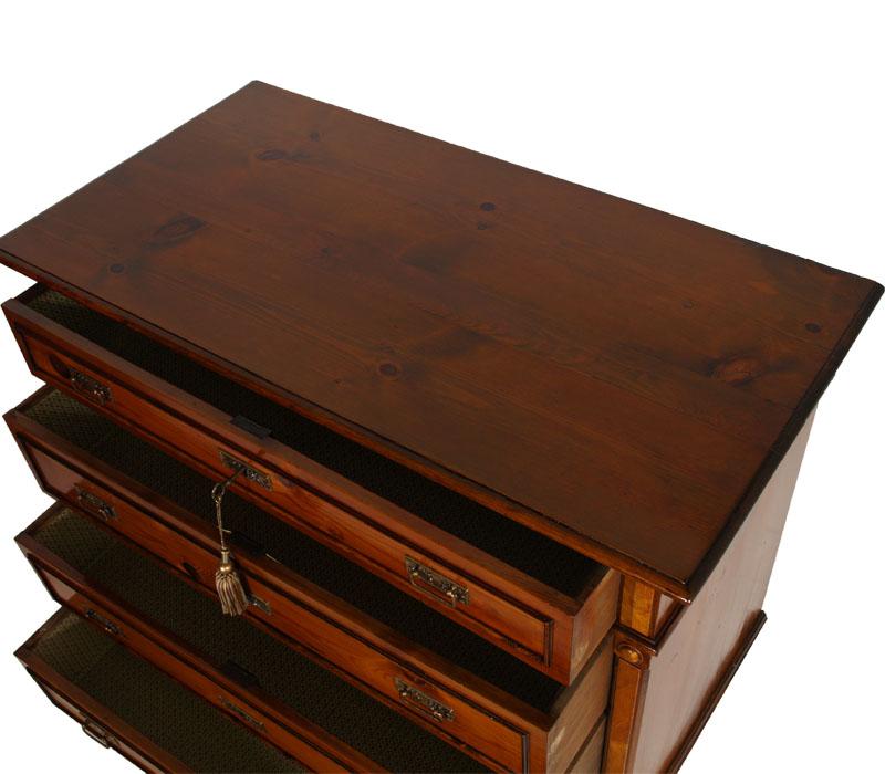 Antico como 39 cassettone neoclassico arte povera in larice for Arredamento neoclassico