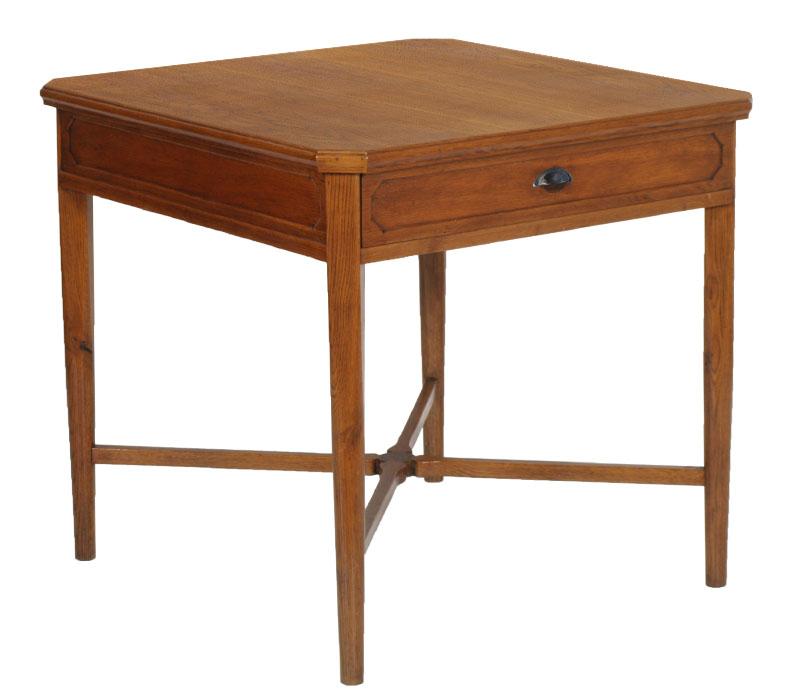 Antico tavolo scrittoio quadrato direttorio rovere primi for Tavolo quadrato grande