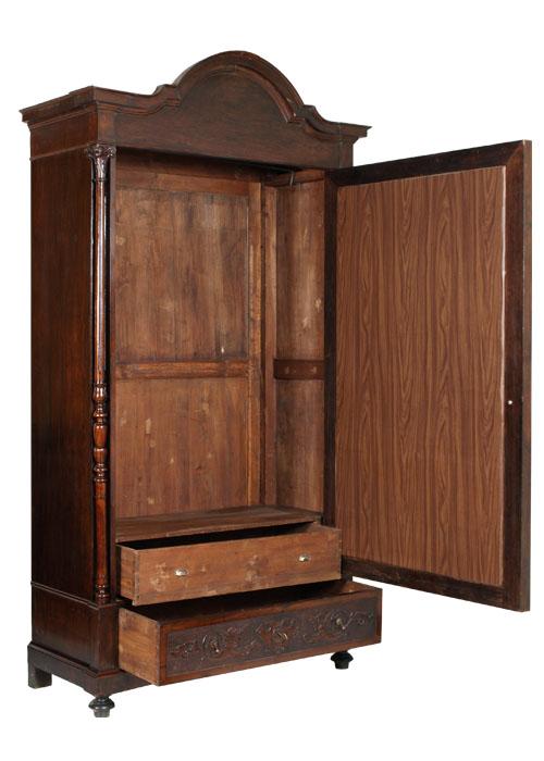 Antico grande armadio ottocento con anta a specchio in for Guardaroba ingresso