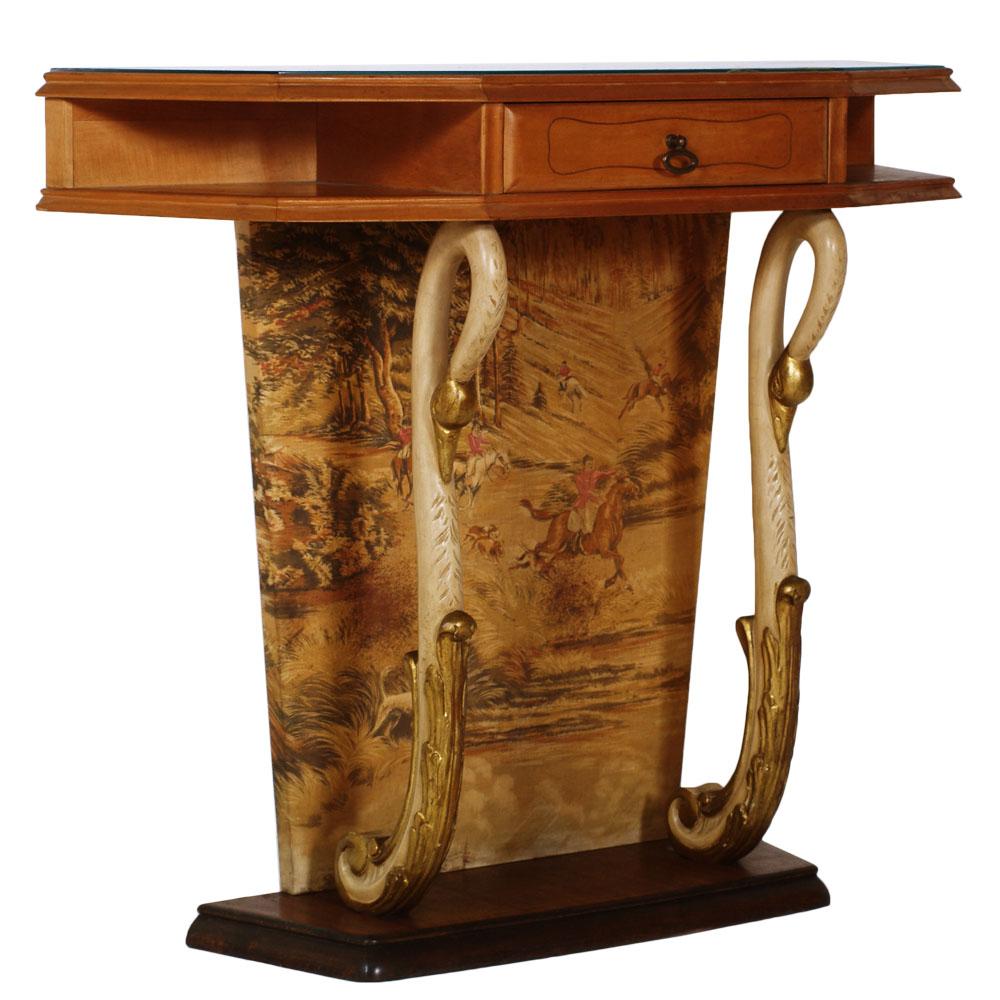console art deco ingresso vintage design mid century cabinet entrance ma d15. Black Bedroom Furniture Sets. Home Design Ideas