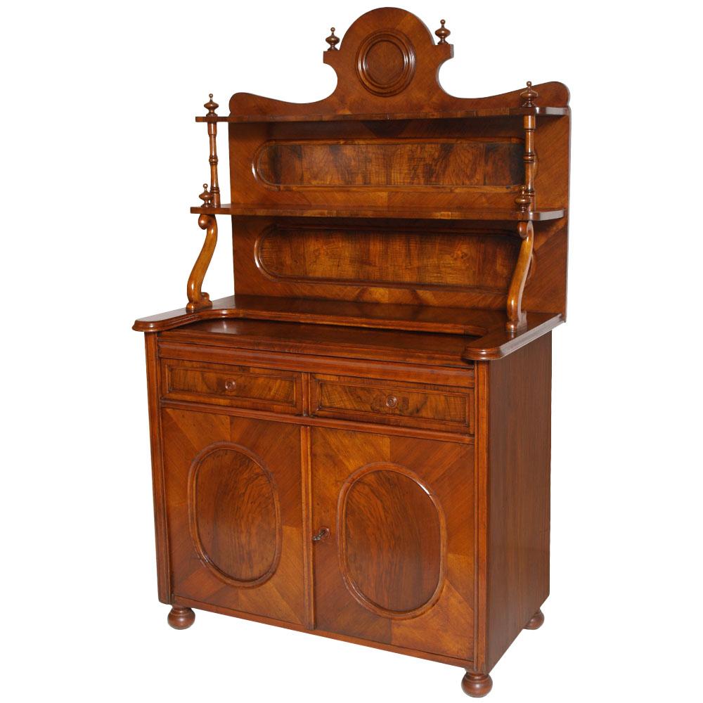 Credenza biedermeier noce antique sideboard dresser for Piattaia antica