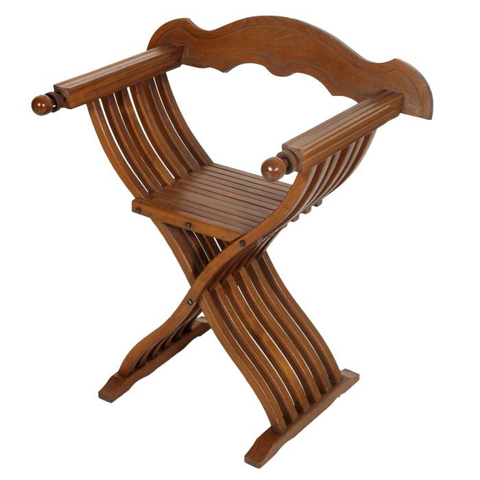 Sedia savonarola in stile rinascimentale ma f46 ebay - Savonarola sedia ...