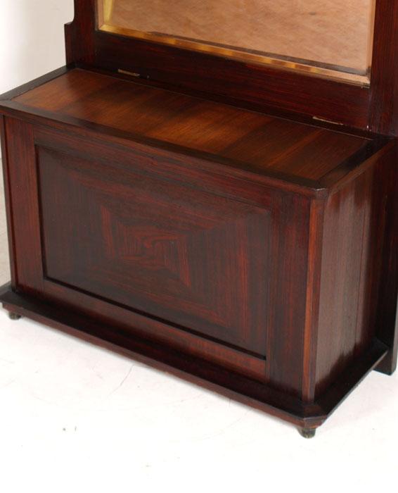 Antica Cassapanca Mobile Ingresso Specchiera Console Art Dec Primi 900 Ma F79 Ebay