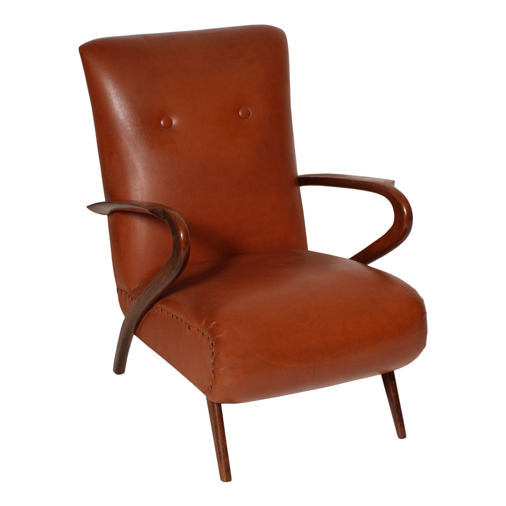 Poltrona vintage design guglielmo ulrich deco 39 anni 39 30 for Poltrona design ebay