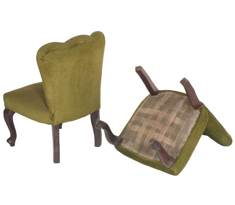 Coppia poltroncine poltrone sedie verdi barocco noce for Sedie barocche