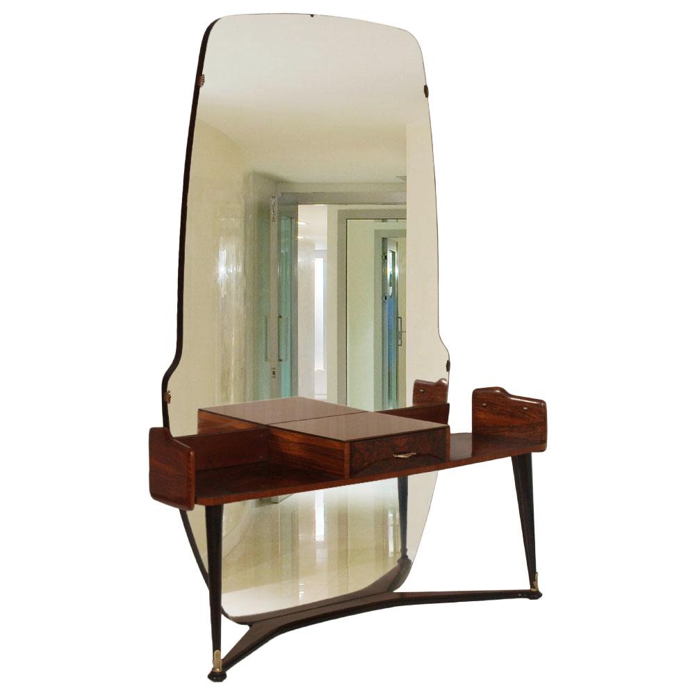 Console mobile ingresso art deco 39 toilette con specchiera for Console mobile