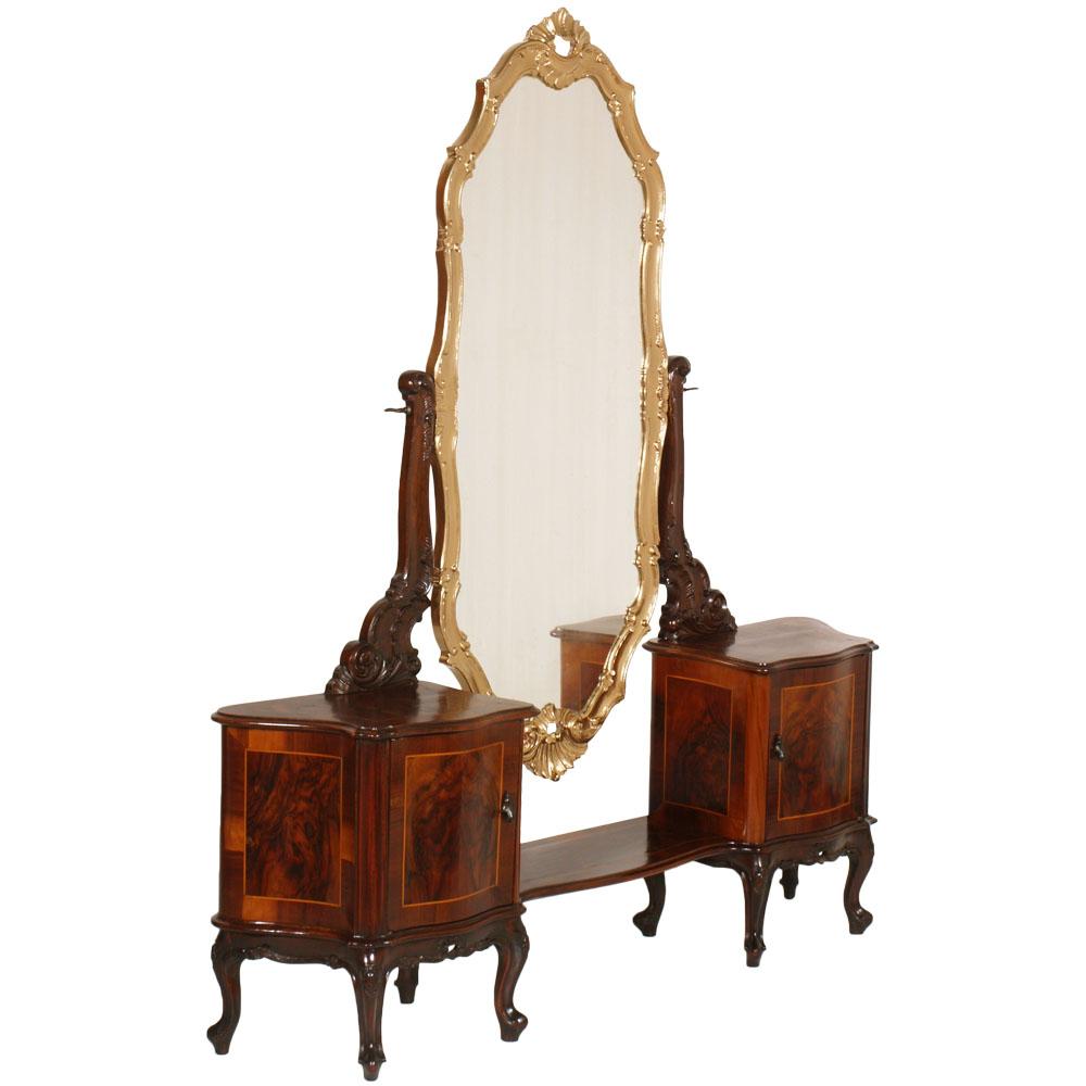 Console con specchio pettiniera barocco veneziano for Specchio 1900