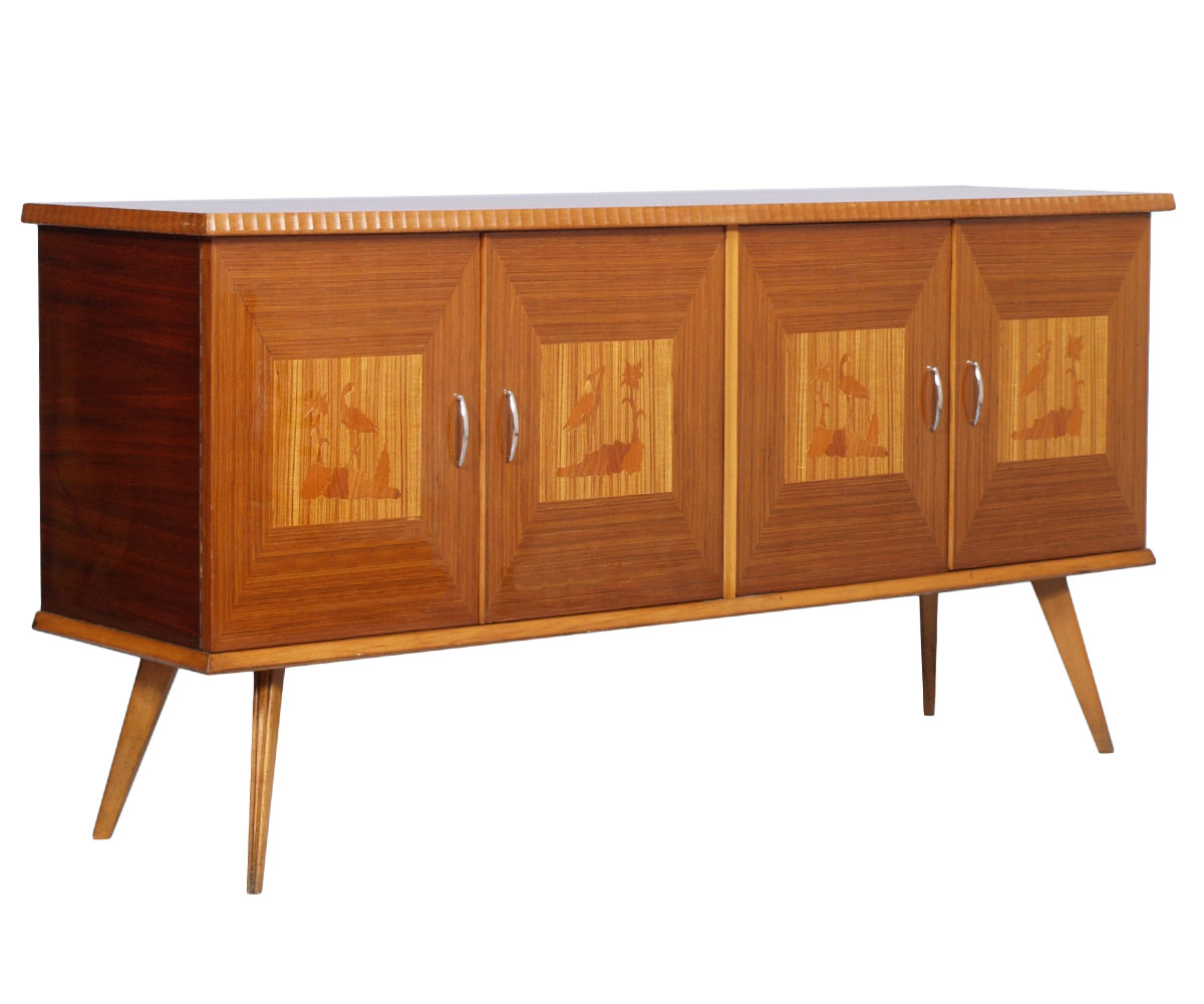 credenza vintage design anni 39 50 mid century modern italian sideboard ma h70 ebay. Black Bedroom Furniture Sets. Home Design Ideas