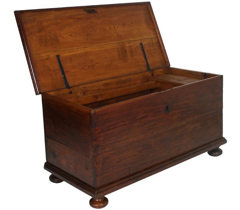 antica cassapanca baule larice legno massello 800 antique