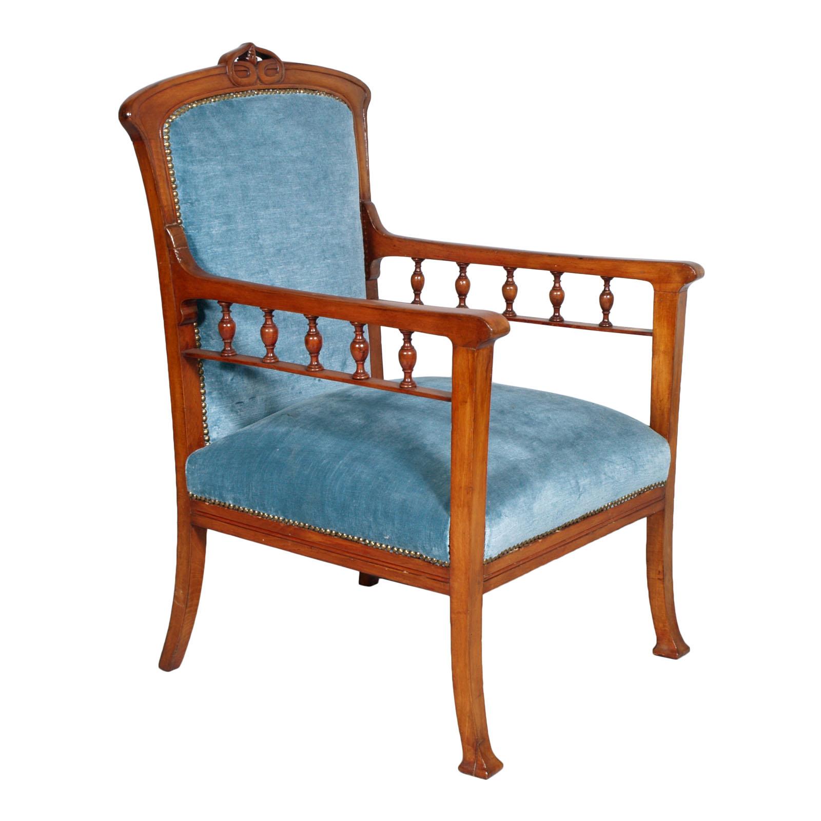 Antique liberty armchair chair sedia braccioli poltrona for Poltrona liberty