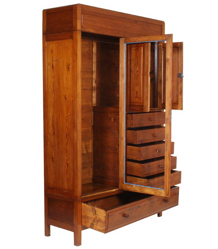 antico armadio guardaroba cassettiera vetrina larice