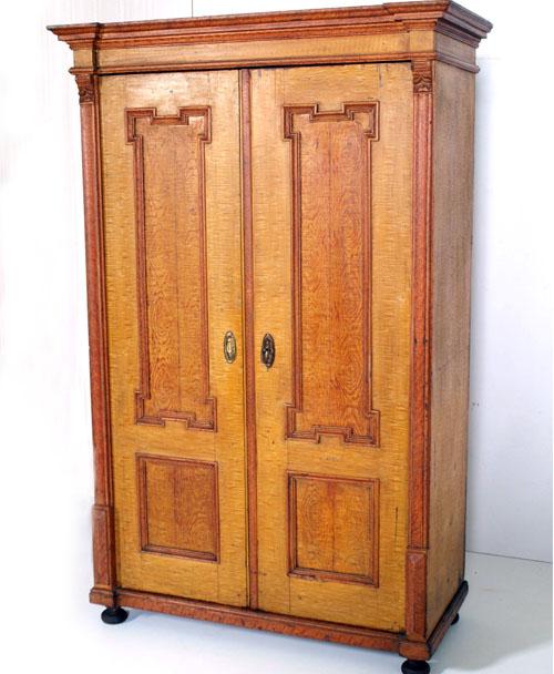 Antico armadio guardaroba 800 neoclassico dipinto legno for Mobile antico