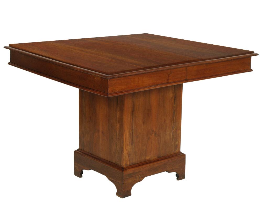 Antico tavolo quadrato noce massello periodo 39 800 - Tavolo in noce massello ...