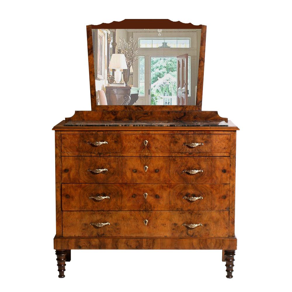antico como 39 cassettone liberty piano in marmo specchio
