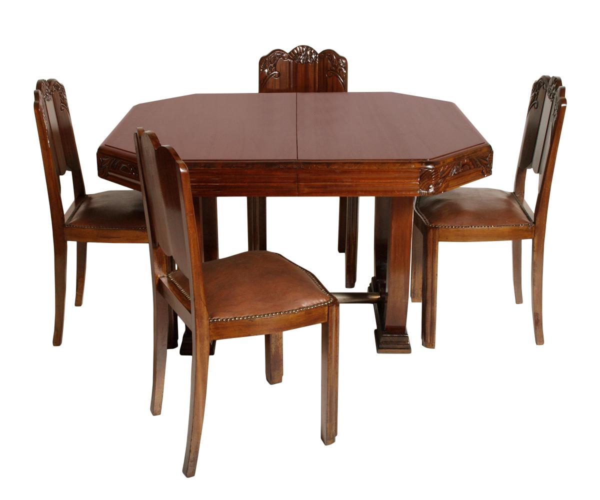 Art deco 39 antique dining table set tavolo allungabile 4 - Tavolo allungabile con sedie ...