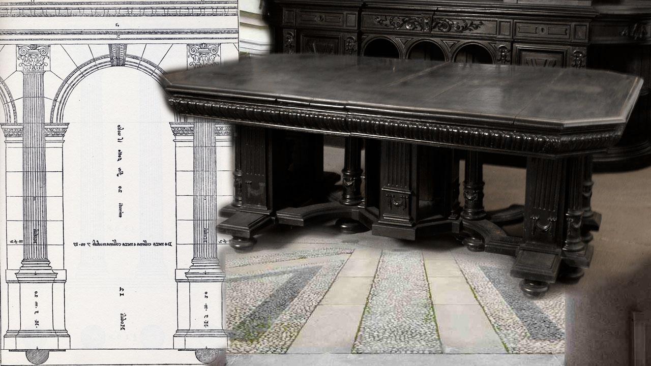 antico soggiorno sala da pranzo neoclassica noce ebanizzato ... - Soggiorno Neoclassico 2