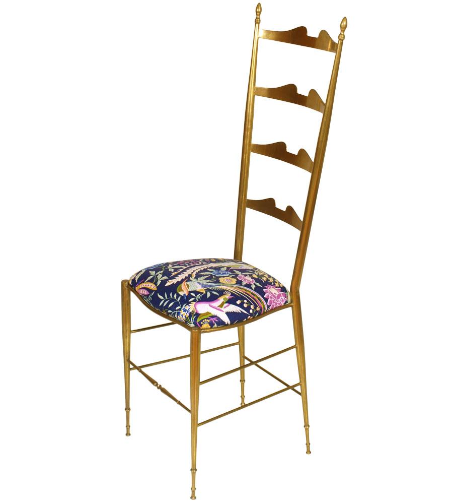 Coppia sedie ottone anni 39 50 chiavari brass chairs for Sedie design anni 80