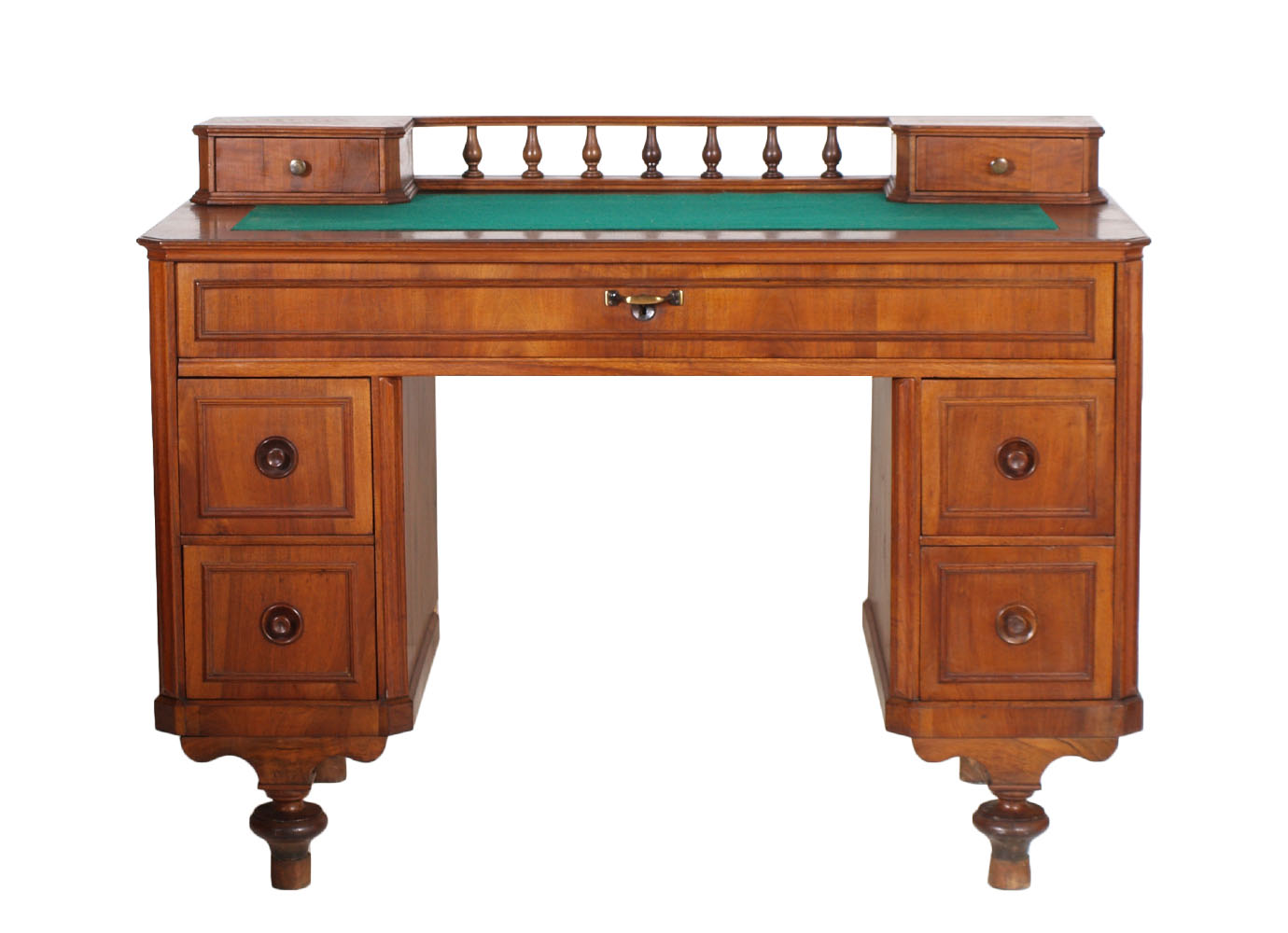 WRITING DESK 19TH C. ANTICO SCRITTOIO SCRIVANIA FINE 800 IN NOCE BIONDO ...