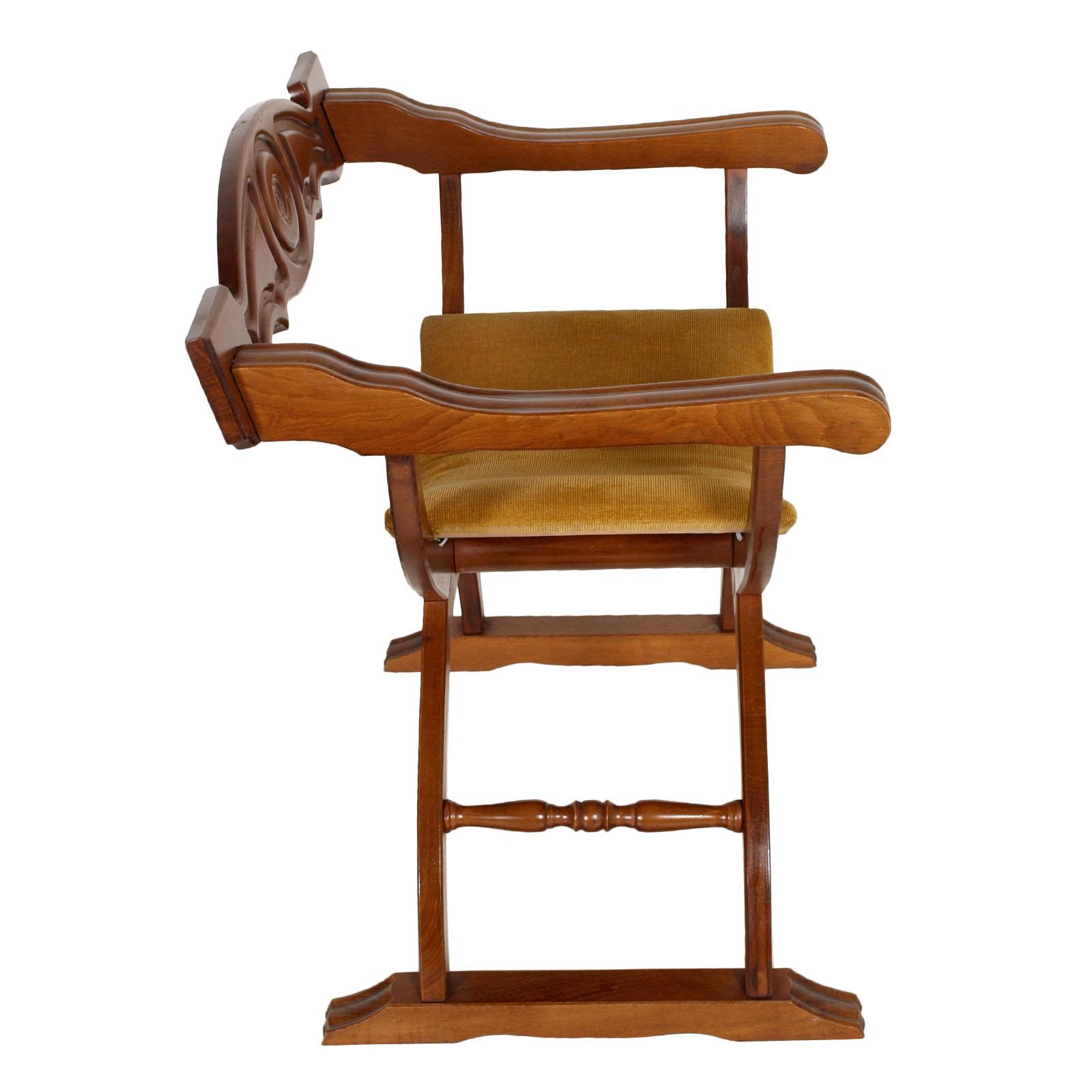 Vintage reinassance chair sedia dantesca savonarola - Savonarola sedia ...
