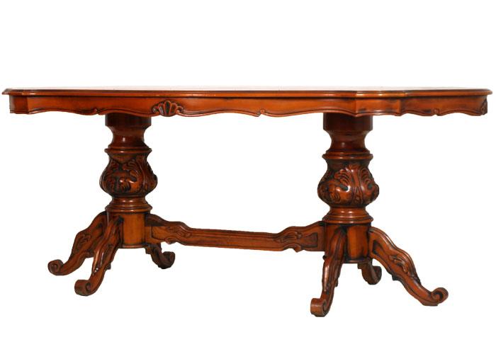 tavolo ovale e 6 sedie barocco noce biondo anni 40 piano in radica ... - Soggiorno Neoclassico 2