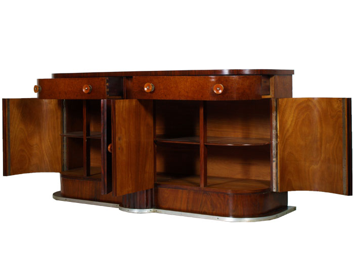 Art deco 39 antique sideboard cabinet maestosa credenza - Art deco mobili ...