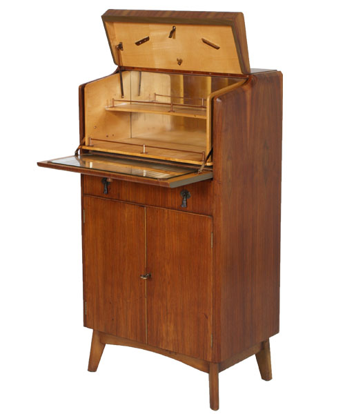 Credenza bar ribalta secretaire art deco 39 design anni 39 40 - Mobile bar vintage ...