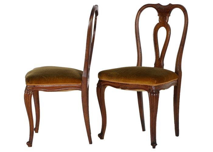 Tavolo ovale sei 6 sedie chippendale barocco veneziano for Poltroncine per tavolo pranzo