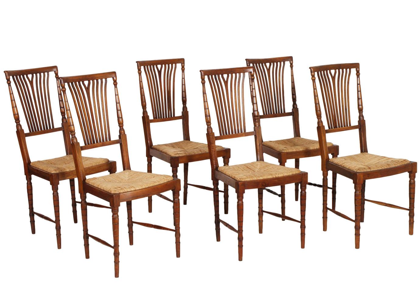 6 sedie set strong chairs chiavari leggere luigi xvi noce