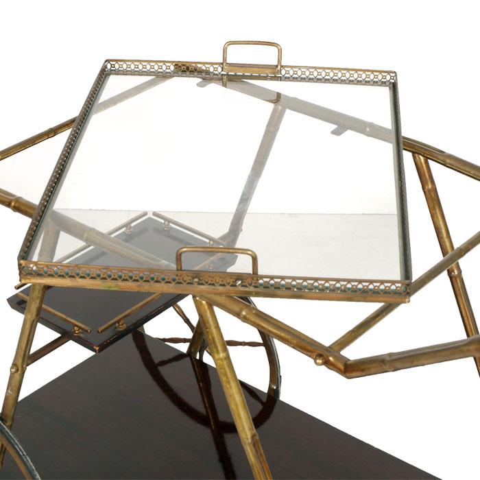 Carrello design vintage mid century brass trolley bar service ottone ma r20 ebay - Carrello portavivande design ...