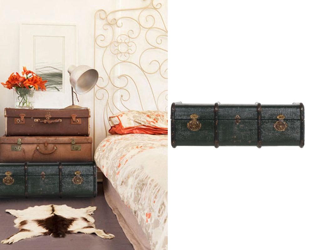 Antique travel trunk baule viaggio vintage retro legno - Baule come tavolino ...
