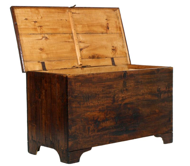 ANTICA CASSAPANCA BAULE CASSONE PIOPPO SESSOLA GRANAIO 700 antique chest MA R35  eBay
