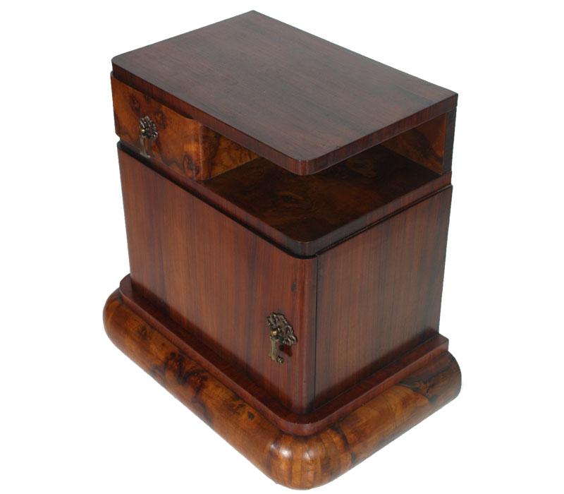 coppia comodini art deco vintage design radica cartella noce primi 39 900 ma r42 ebay. Black Bedroom Furniture Sets. Home Design Ideas