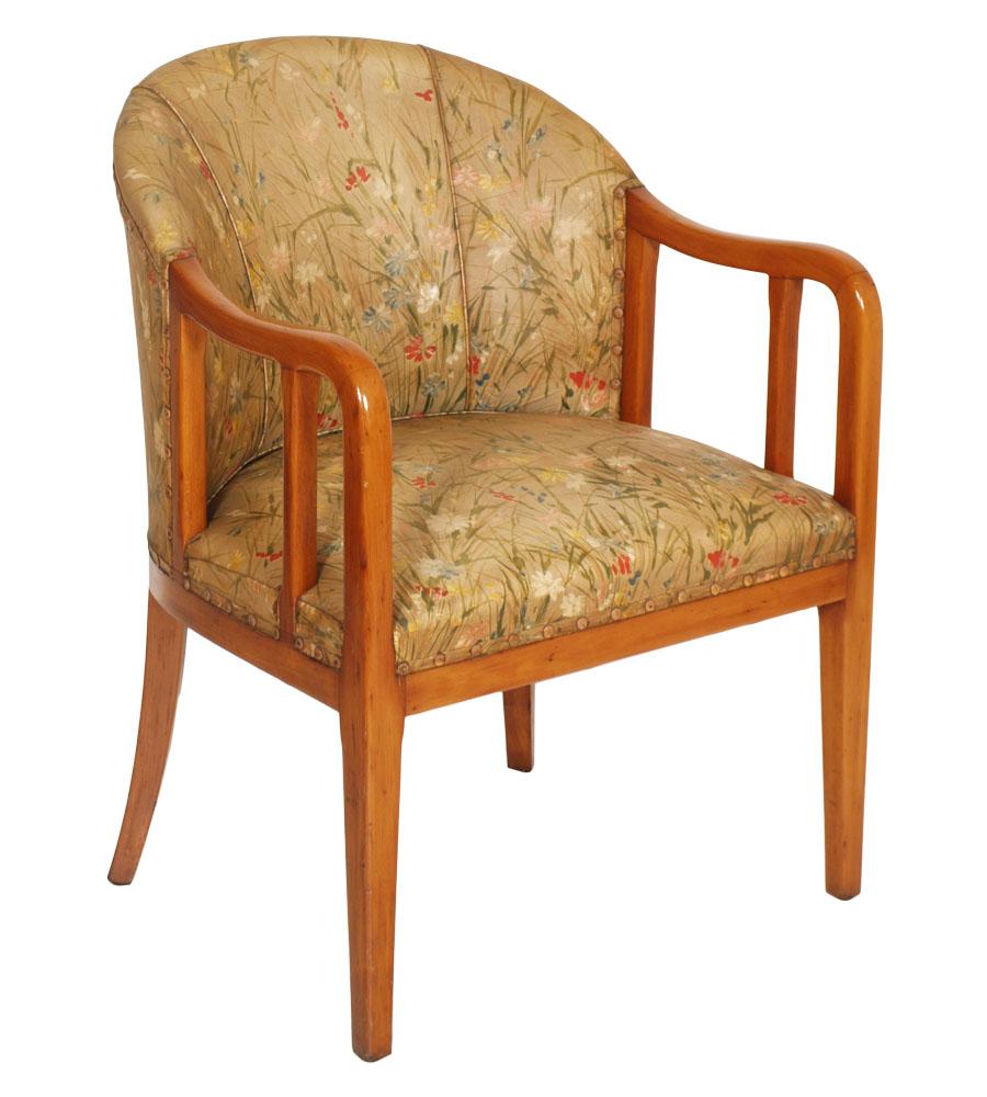 Jules Leleu Seat Sedia Art Deco Armchair Poltroncina