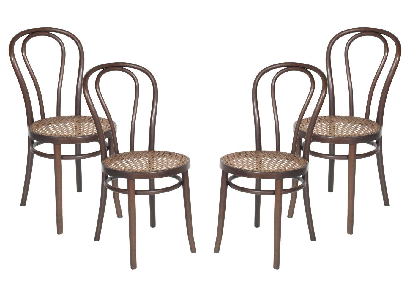 Set quattro sedie thonet in faggio curvato paglia di vienna restaurate ma r59 ebay - Sedia thonet originale ...