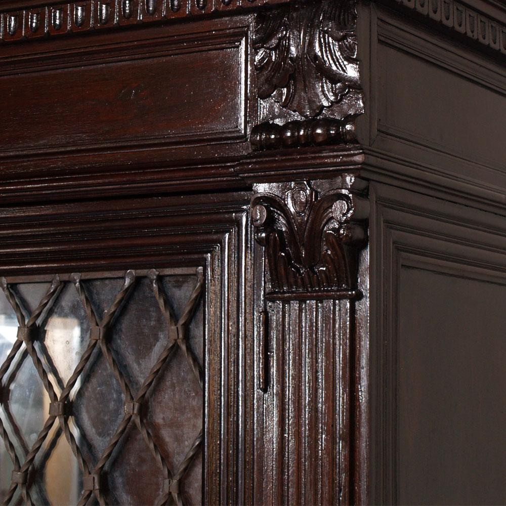 Antico armadio vetrina libreria rinascimentale fine 800 for Riproduzioni mobili design