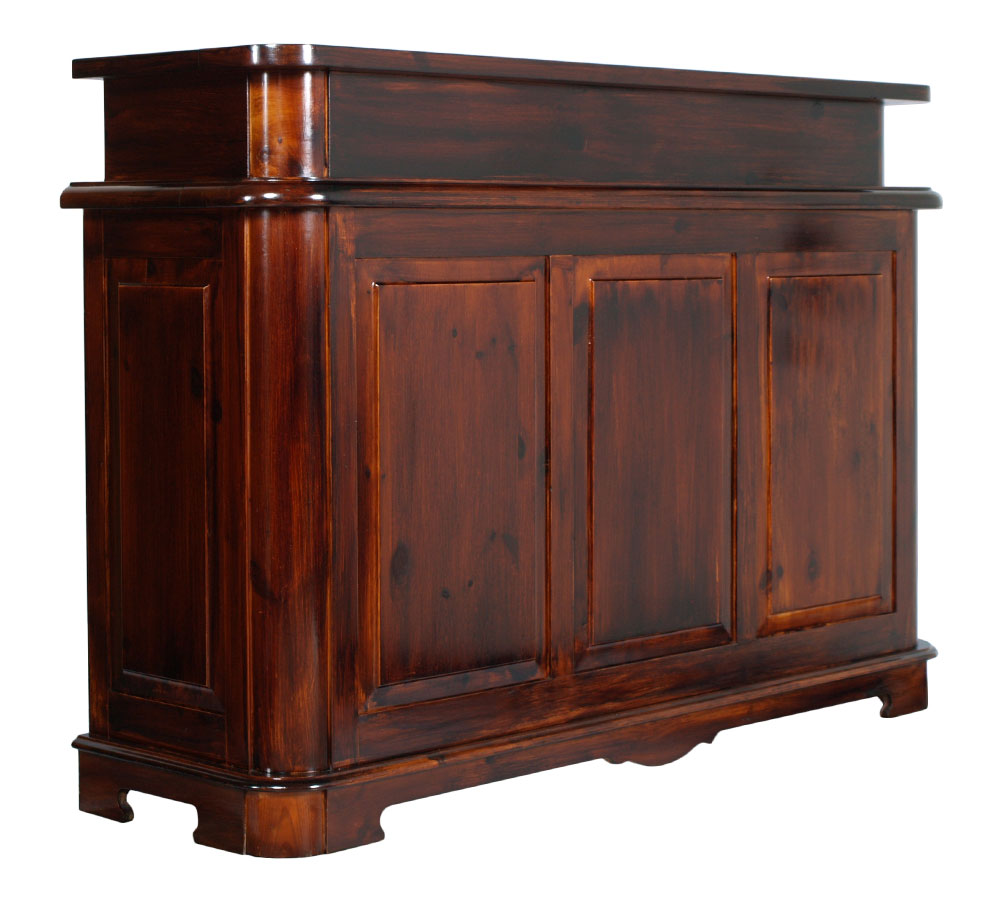 Counter mobile bar tavern solid pine tint dark walnut - Mobile bar anni 70 ...
