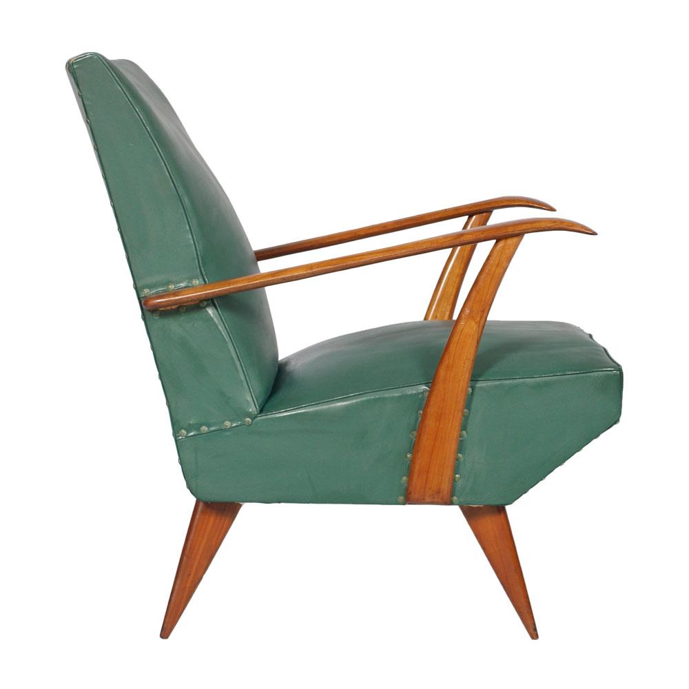Carlo mollino armchair lounge chair vintage design art for Poltrona design anni 50