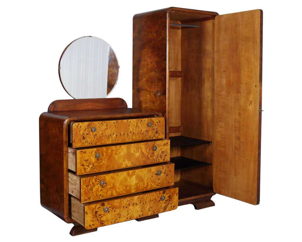 GAETANO BORSANI ART DECO BEDROOM SET CAMERA LETTO SINGOLA RADICA ...