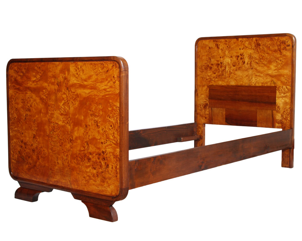 GAETANO BORSANI ART DECO BEDROOM SET CAMERA LETTO SINGOLA RADICA 1930s ...