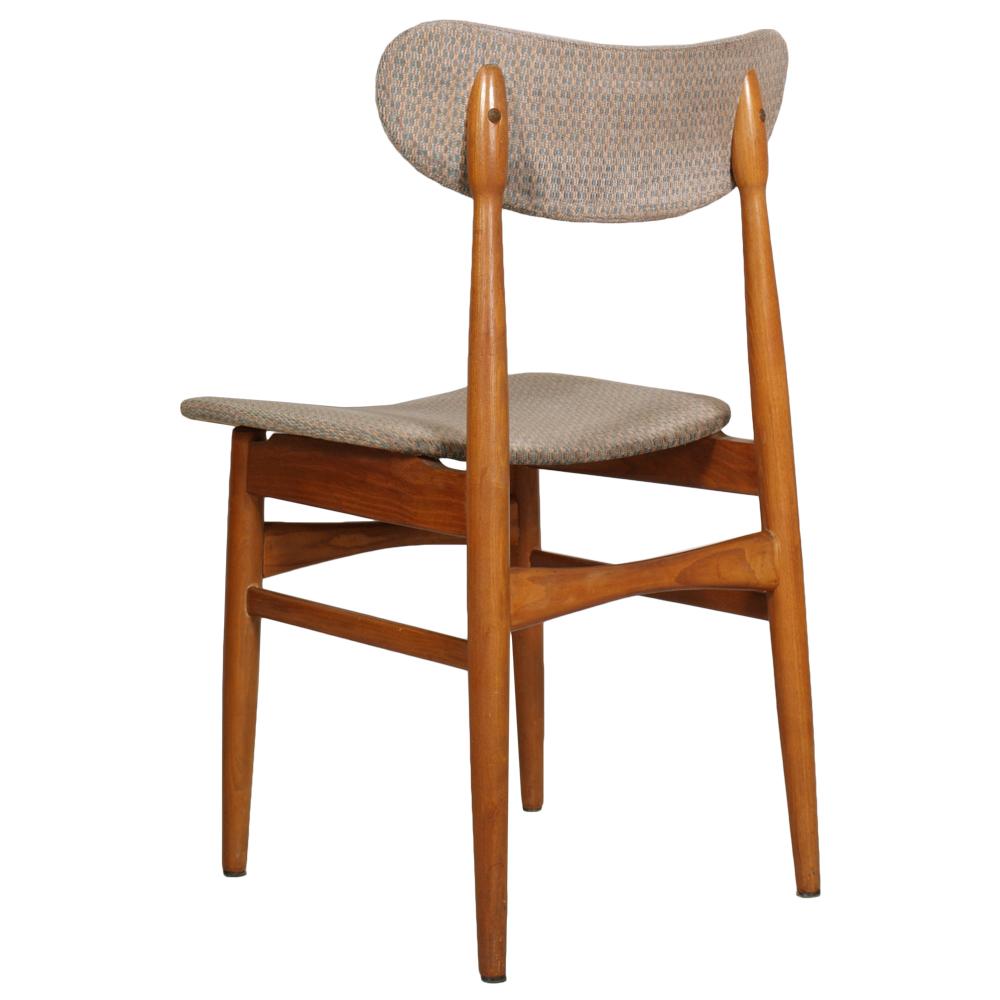 Midcentury six danish chairs design peter hvidt orla for Sedie vintage design