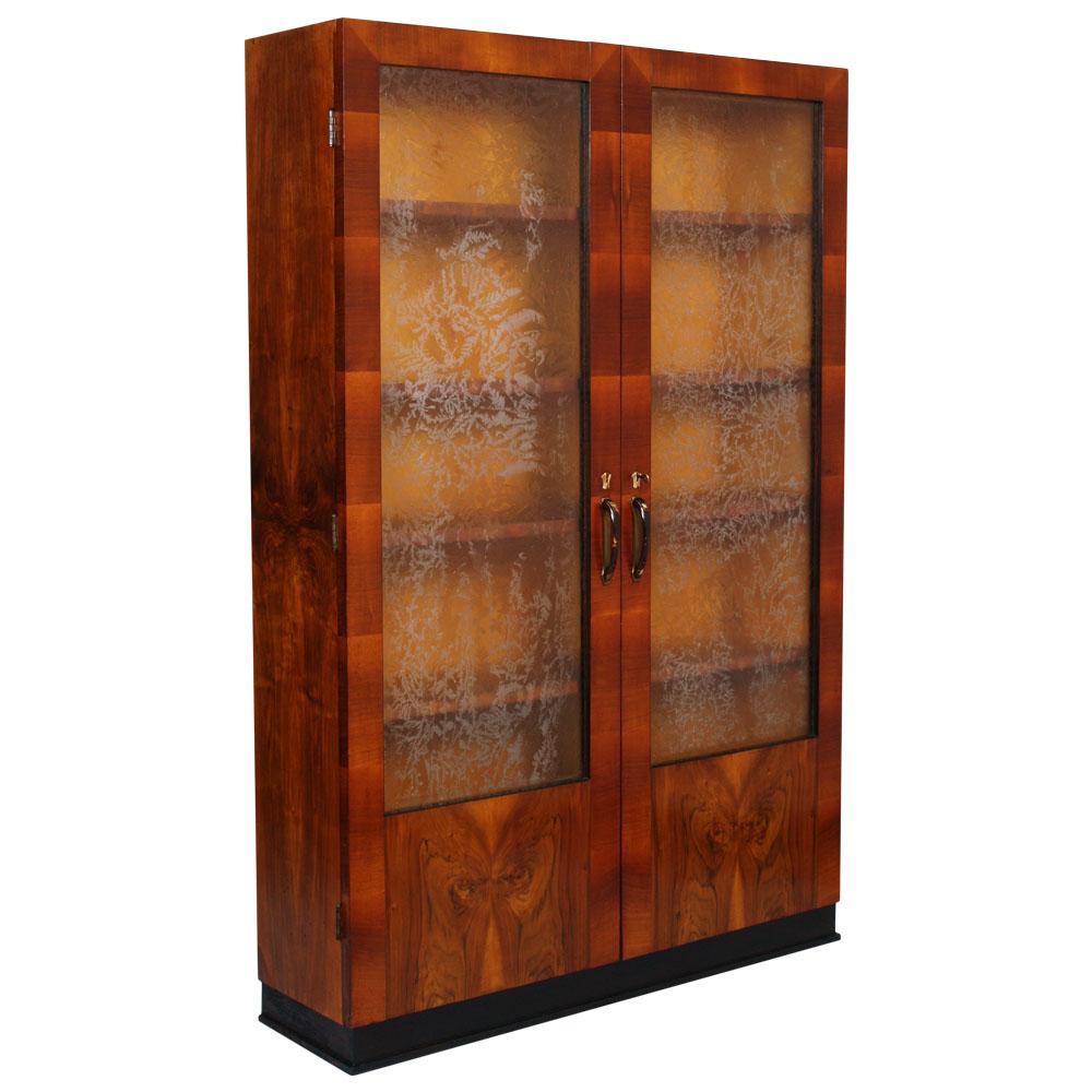 cristalliere moderne : Details about VETRINA LIBRERIA RADICA NOCE ANNI 30 showcase bookcase ...