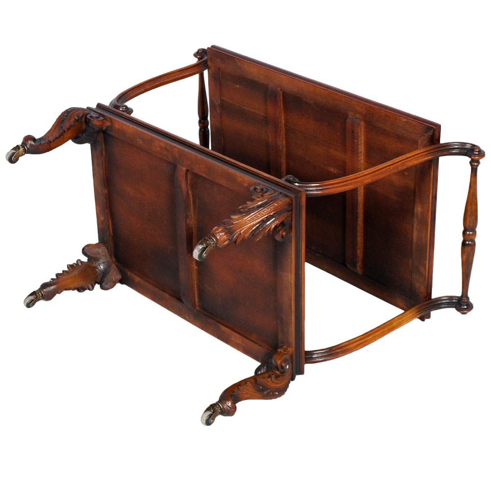 CARRELLO BAR CART PORTAVIVANDE CHIPPENDALE BAROCCO NOCE PRIMI ...